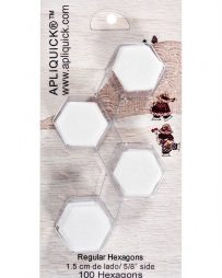 APLIQUICK®™ HEXAGONS (100 Units to 5/8″ side)